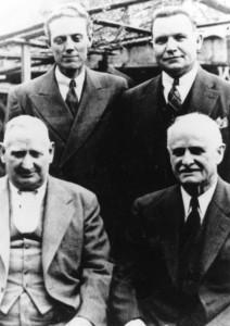 Sitting: John Y. Barlow, Joseph Musser. Standing{ Louis Kelsch, Charles Zitting.